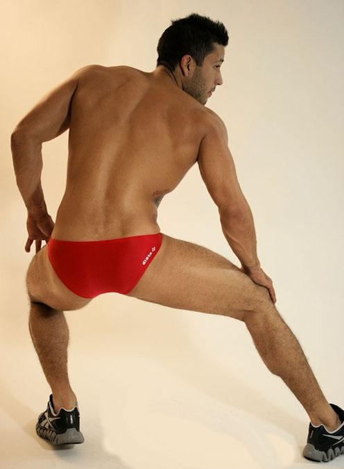 Delio Dietz Red Milano Slip Bikini